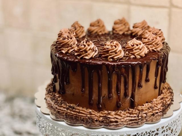 Chokolade mousse topping